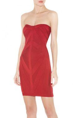 180b51c7e560 Red Herve Leger Short Bandage Cocktail Dress Women Bcbg Dresses, Cheap  Dresses, Elegant Prom