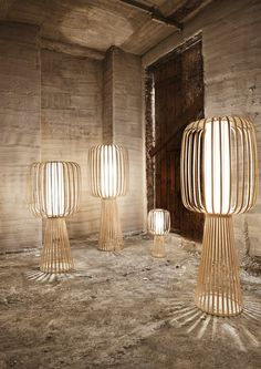Our MOOLIN Tall Floor Lamps are like silently glowing sentinels. Placed in even the smallest of spaces, they immediately flood the area with light and elegance. Cool Lighting, Lighting Design, Rattan, Tall Floor Lamps, Wood Lamps, Bamboo Lamps, I Love Lamp, Garden Lamps, Chandelier Lamp
