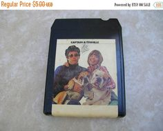 Captain and Tennille 8 Track Tape - Vintage Cassette Tape - 8Track by BohemianGypsyCaravan