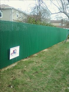 Liberty Fence & Railing installed 2,000 feet of 6-ft high green vinyl coated chain link fence with green PVT privacy slats on Tennessee Street for the Incorporated Village of South Floral Park.