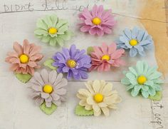 Prima - Mulberry Paper Flowers - Lil Missy 3 (pastels)