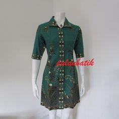 ELEGAN DRESS BATIK FEMININ DB195 toko online jual baju dress batik yang  modelnya modern dan harganya cf7afbc445