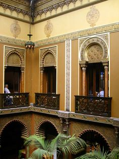 Interior Patio - Casa do Alentejo in Lisbon #Portugal