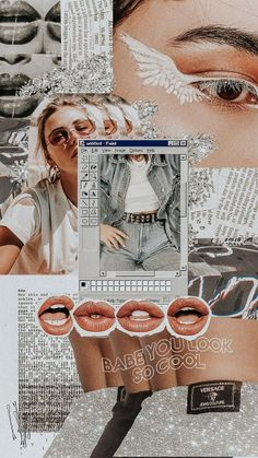 iphone wallpaper collage babe, you look so cool - Tumblr Wallpaper, Iphone Background Wallpaper, Retro Wallpaper, Locked Wallpaper, Aesthetic Pastel Wallpaper, Aesthetic Backgrounds, Aesthetic Wallpapers, Fashion Wallpaper, Galaxy Wallpaper