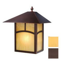 Cascadia Lighting�Mission 13-in H Burnished Bronze Outdoor Wall Light