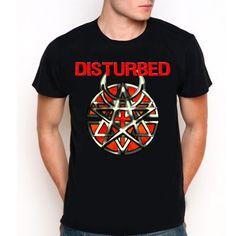 Disturbed Band Symbol Logo Custom Black T-Shirt Tee All Size XS-XXL