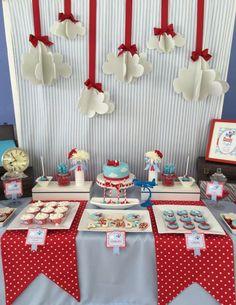 Boy's Airplane Themed Birthday Party Ideas