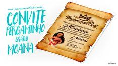 Convite Pergaminho Princesa Moana Modelo