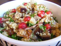 Sugar and Spice: Couscous mit Auberginen, karamellisierten Schalotten und Johannisbeeren