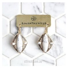 The very stunning @samanthawills 'Reality Of Dreams Earrings' $119.90 are now available online at shop.stfrock.com.au. Make them yours today! #stfrock #samanthawills #earrings #jewellery #style