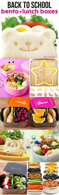 Back to School Bento + Lunch Boxes! Lots of back to school recipe, snack, and lunch ideas for moms and families.