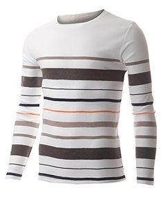 FLATSEVEN Men's Multi Color Striped Crew Neck Tee shirt with Long Sleeve (TRL3006) Brown, L FLATSEVEN http://www.amazon.com/dp/B00QCYX62W/ref=cm_sw_r_pi_dp_GFl1ub1PPYRBX