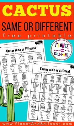 Free printable same and different worksheets for preschool - same or different activities for preschoolers. #prek #preschool #planesandballoons Printable Preschool Worksheets, Free Preschool, Preschool Themes, Preschool Learning, Kindergarten Worksheets, Fun Learning, Free Printables, Pre Reading Activities, Fun Activities For Toddlers