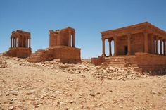 Roman Temple Tombs of Ghirza, Libya. THE LIBYAN Esther Kofod www.estherkofod.com