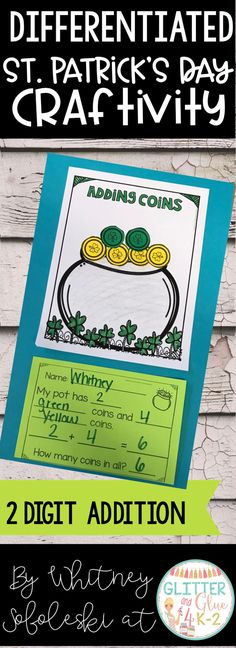 Use this fun St, Patrick's Day craftivity to reinforce counting, addition, subtraction, and color words! I've included four different versions so you can use the option that fits your classroom's needs best or you can differentiate. Keywords: St. Patrick's Day theme, kindergarten, first grade, craft, math craft, Saint Patrick's day, SPED, special education, intervention specialist teaching, teacher