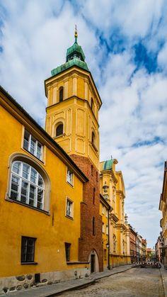 St. Martin church on Piwna street, Old Town in Warsaw, Poland
