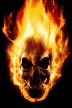 skulls on fire - Google Search
