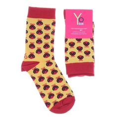 Yo Sox Womens Crew Lady Bug
