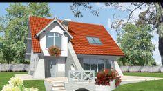 Proiect de casă cu mansardă: suprafața utilă 130.56 mp Loft House, Tiny House, Style At Home, Two Bedroom House, Malaga, Cladding, Home Fashion, Gazebo, Exterior
