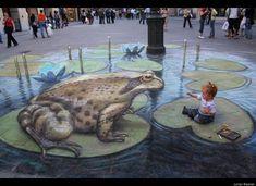 Street Artist Julian Beever Creates 3D Chalk Illusions (PHOTOS)