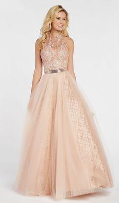 Alyce Paris - 60561 Floral Appliqued Illusion Halter A-Line Gown – Couture Candy Nice Dresses, Short Dresses, Formal Dresses, Pagent Dresses, Classy Women, Classy Lady, Perfect Prom Dress, A Line Gown, Prom Dresses Online