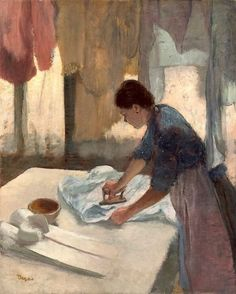 Edgar Degas Woman Ironing print for sale. Shop for Edgar Degas Woman Ironing painting and frame at discount price, ships in 24 hours. Cheap price prints end soon. Edgar Degas, National Gallery Of Art, Art Gallery, National Art, Degas Paintings, Art Ancien, Oil Painting Reproductions, Renoir, French Artists