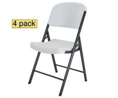 Lifetime Folding Chairs 42804 4 Pack in White Granite Color