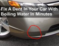 If you have a newer car, with a plastic bumper/fender and it has a dent in it, you are in luck as I am going to explain how to fix the dent for free with some boiling water... This all started when my wife's car had a dent in the fender. She took it to...