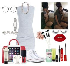 """""""Gray dress"""" by tagfash ❤ liked on Polyvore"""