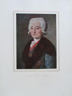 SCHIBANOW DMITRIJEW MAMONOW Porträt Kunstdruck Reproduktion Russland 1952
