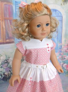 1940's Inspired dress for American Girl doll by dancingwithneedles