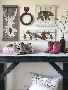 RUSTIC WOODLAND NURSERY set for girl woodland by ElevenOwlsStudio