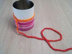 Crochet pen holder with hearty animal motifs - fantasy work Fun Crafts For Kids, Art For Kids, Diy And Crafts, Arts And Crafts, Work With Animals, Textiles, Pen Holders, Crochet Patterns, Wool