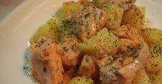 鮭とじゃがいもを塩バター味で煮ました♪2010年4月14日100人!2013年4月25日1000人にれぽ頂きました☆