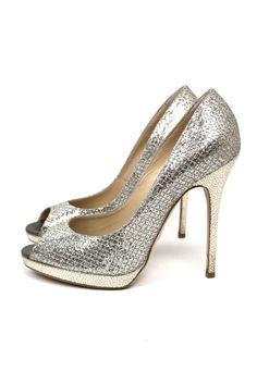 #Event and party-ready. Jimmy Choo Silver Glitter Shoes, £175. #buymywardrobe #gifts #Christmas