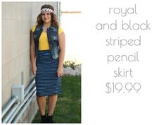 Let our new pencil skirt rock your world #newarrivals #denim #vest #skirts #ootd #stripes #booties #backtoschool #fashionista #utahboutiques #shopbellame