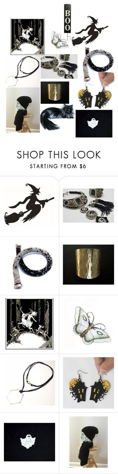 """Happy Halloween"" by anna-recycle ❤ liked on Polyvore featuring modern, rustic and vintage"