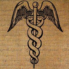 Medical for Mom Future Tattoos, Love Tattoos, Black Tattoos, Body Art Tattoos, Brain Tattoo, Tattoo You, Tattoo Quotes, Caduceus Tattoo, Tattoo Designs