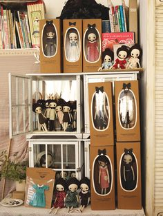 Great packaging and display. Adorable handmade dolls.