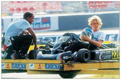 Young Lewis Hamilton and Nico Rosberg