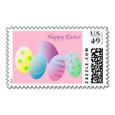 Happy Easter Postage Stamp. This is customizable to put a personal touch on your mail. Add your photos or text to design your own stamp that can be sent through standard U.S. Mail. Just click the image to try it out!
