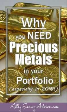 Why you NEED Precious Metals in your Investment Portfolio (especially in Milly - Money on Purpose