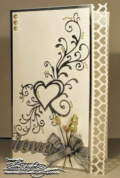 The Serendipitous Stamper: Blog Candy and Wedding Elegance. Love the hearts and flourish.  New stamps needed?
