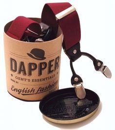 Bretels Rood met Leer 6-clips. De populairste bretellen die we hebben dit seizoen.