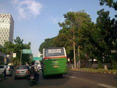 Jl. Kebon Sirih. Jakarta. Dekat perempatan Wisma Mandiri, BI, & kantor Kementerian Agama.