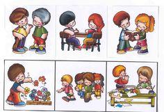und die Bilder: Educational Activities For Kids, Learning Activities, Social Emotional Learning, Social Skills, Kindergarten, Preschool At Home, Life Skills, Sunday School, Card Games