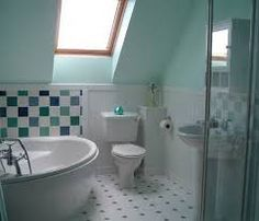 small shower rooms in attics - Google Search