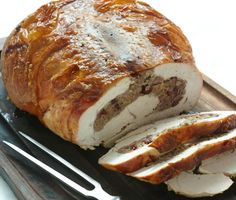 Turkey Breast Stuffed with Italian Sausage and Marsala-Steeped Cranberries