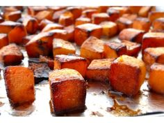 Roasted Brown Sugar-Five Spice Butternut Squash from NoblePig.com