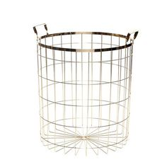 Holly's House - Brass Basket with Handles 45cm d x 51cm h £78